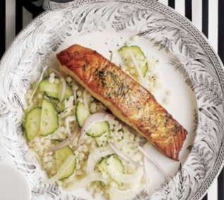 Seared Salmon with Israeli Couscous